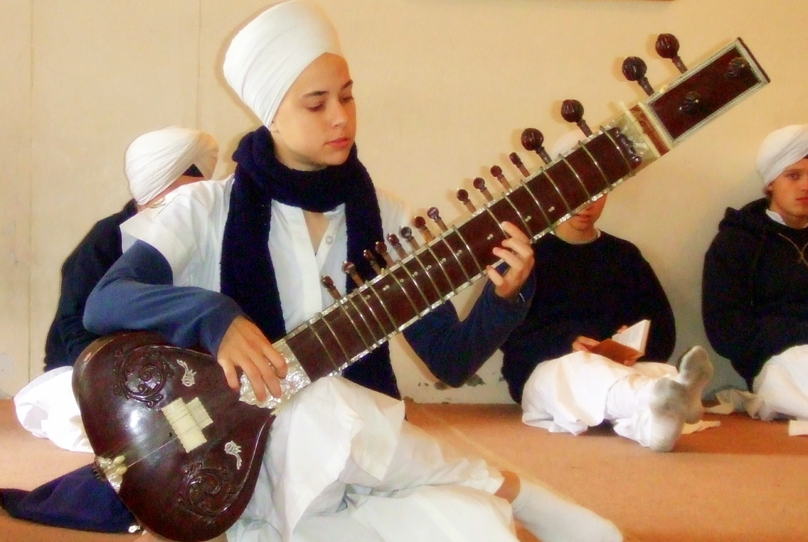 MPA Student playing Sitar